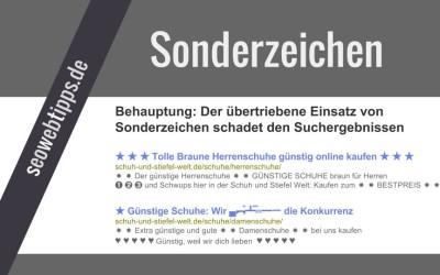 Sonderzeichen HTML in Title und Description
