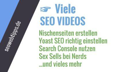 SEO Videos – Lernvideos für SEO Anfänger und Fortgeschrittene