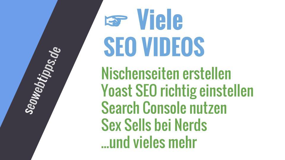 SEO Videos - SEO-Lernvideos