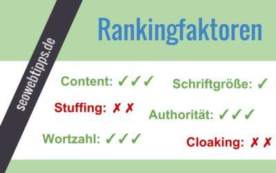 Ranking Einflussfaktoren Übersichten